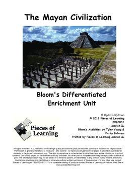 Mayan Civilization - Differentiated Blooms Enrichment Unit