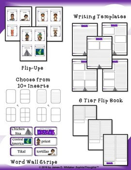 Mayan Civilization Interactive Mini Research Fold-Ems and Activities