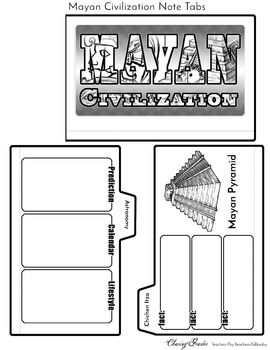 Mayan Civilization Note Tabs Flipbook