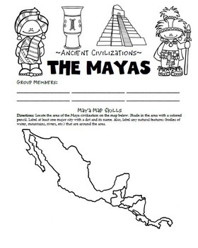 Maya Civilization Activities Printables Lesson Plans by