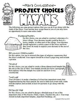 Maya I Mayan Activities