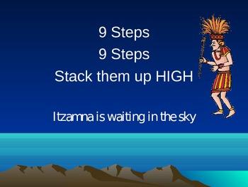 Mayan Climb by Nine Multiplication Poem