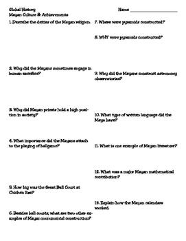 Mayan Culture & Achievements