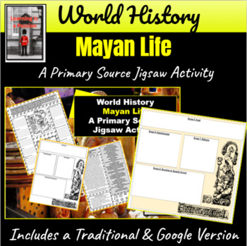 Mayan Life Primary Source Jigsaw Activity