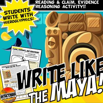 Mayan Math and Heiroglyphics Worksheet Handout