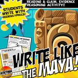 Write Like the Maya! A Mayan Hieroglyphics Activity Readin