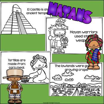 Mayan Mini Book for Early Readers - Ancient Civilizations Activities