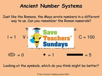 Mayan Number System Lesson Plan, PowerPoint and Questions