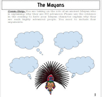 Mayan Reading Comprehension: Become a Mayan Expert SS.6.W.2.10 and SS.7.G.2.3
