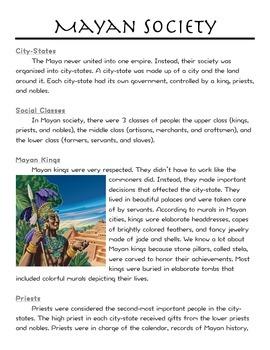 Mayan Society/Social Classes/Jobs