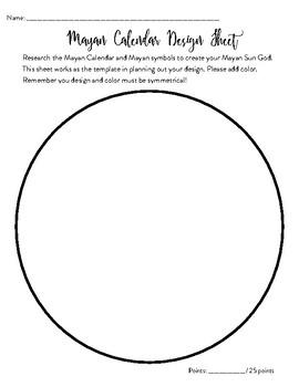 Mayan Sun Design Sheet