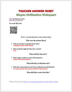 Mayan Webquest: Chichen Itza and Mayan Mythology