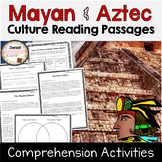 Mayan and Aztec Empire Passages and Comprehension Activities