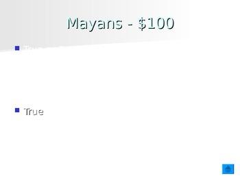 Mayans, Incas, Aztec Review Game