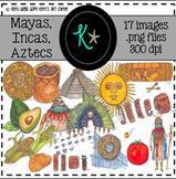 Mayas, Incas, Aztecs Clip Art