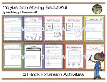 Maybe Something Beautiful by Campoy & Howell Literacy Book Activity Pack No-Prep