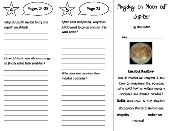 Mayday on Moon of Jupiter Trifold - ReadyGen 2016 5th Grade Unit 3 Module A