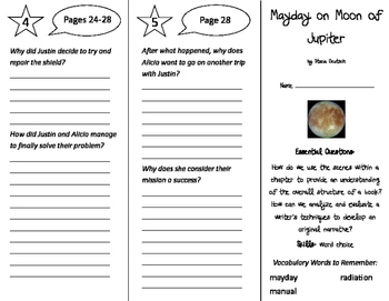 Mayday on Moon of Jupiter Trifold - ReadyGen 5th Grade Uni