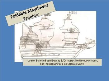 Mayflower Bulletin Board Freebie