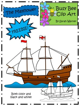 Mayflower Clip Art FREEBIE! {By Busy Bee Clip Art}