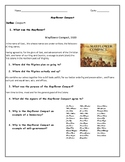 Mayflower Compact Adapted Worksheet with Answer Key
