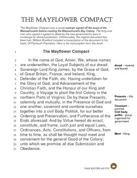 Mayflower Compact Close Read