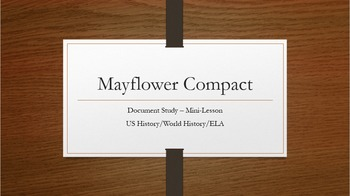 Mayflower Compact Document Study