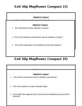 Mayflower Compact Exit Slips