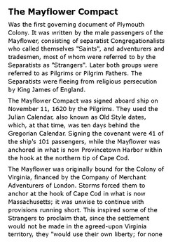 Mayflower Compact Handout