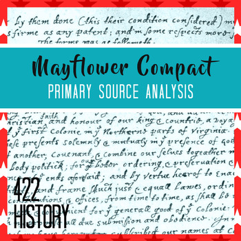Mayflower Compact Primary Source Analysis By 422history Tpt