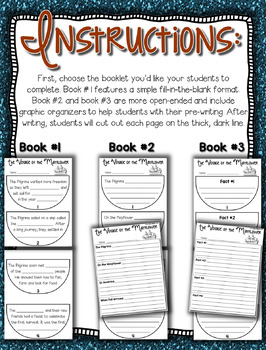 Mayflower Craftivity --- Mayflower Book Writing Project