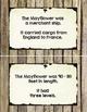Mayflower Journey Fact Cards