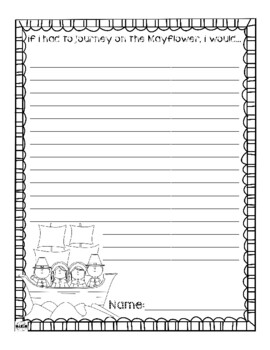 Mayflower Journey Writing Prompt