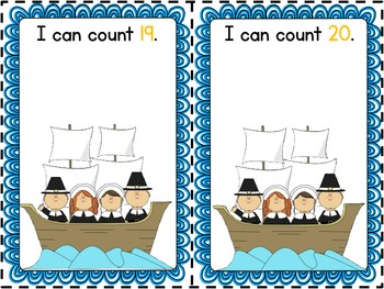 Mayflower Math Mats (Number Practice 1-20 and Number Words One-Ten)