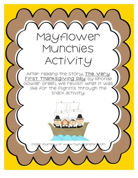 Mayflower Munchies - Thanksgiving Activity
