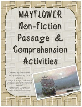 Mayflower Non-Fiction Passage & Comprehension Activities