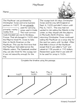 Mayflower: Non-Fiction passages with questions