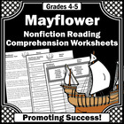 Mayflower, Thanksgiving Reading Comprehension Activities, Nonfiction Passages