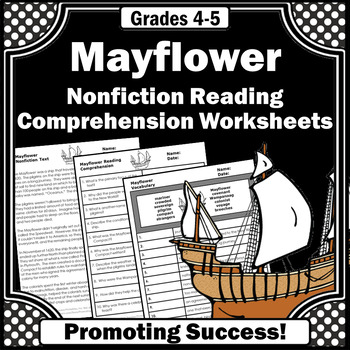 Mayflower Thanksgiving reading comprehension social studies worksheets