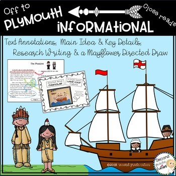 Mayflower Reading , Informational text, annotation to show text evidence