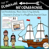 Mayflower Reading  Informational text, annotation distance learning