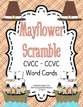 CVCC-CCVC Task Word Cards and Worksheet - Mayflower