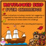Mayflower Ship STEM Challenge
