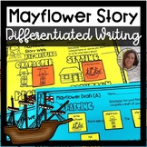 Mayflower Story Writing Activity for Special Ed | Fall Differentiated Writing