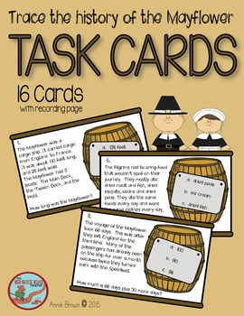 Mayflower Task Cards