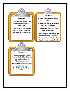 A to Z Mysteries MAYFLOWER TREASURE HUNT - Discussion Cards
