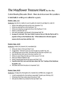 Mayflower Treasure Hunt Questions and Comparison Chart