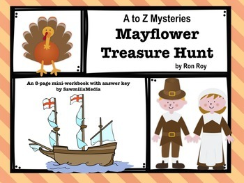 Mayflower Treasure Hunt by Ron Roy - Mini-workbook with Answer Key