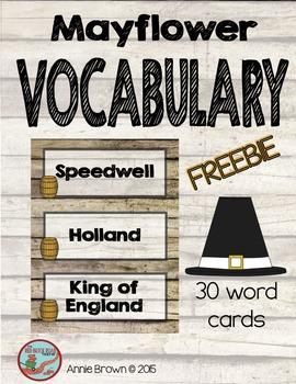 Mayflower - Vocabulary - Freebie
