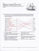 Mayflower Vocabulary Puzzle Worksheets for Thanksgiving